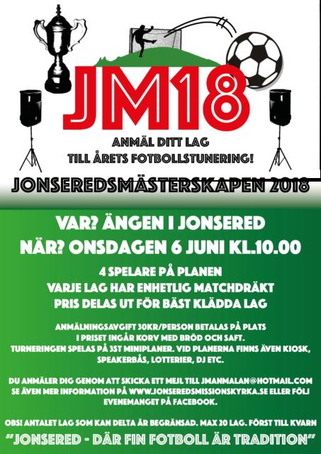 JM18 – Jonsered, där fin fotboll är tradition